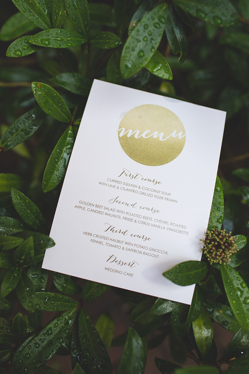 Menu template via Etsy