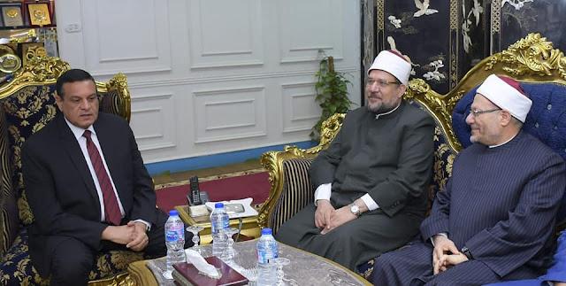 محافظ البحيرة يستقبل وزير الأوقاف ومفتي الديار المصرية