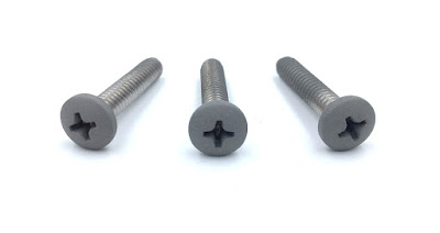 "Metallic Silver Painted Machine Screws - 10-24 X 1"" COTS Stainless Steel Machine Screws"