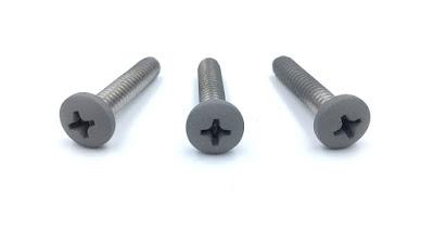 "Metallic Silver Painted Machine Screws - 10-24 X 1"" COTS Stainless Steel Machine Screws"