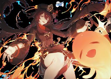 [ UME ] Genshin Impact HU TAO render by  SAYA-Team