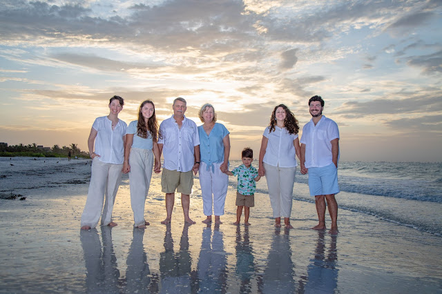 Sunrise on Sanibel Island family portrait