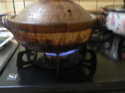土鍋に点火