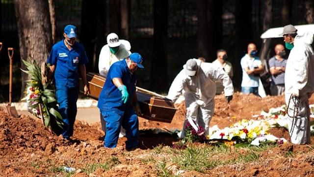 Brasil registra quase 2,4 mil mortes pela Covid-19 nesta quarta-feira