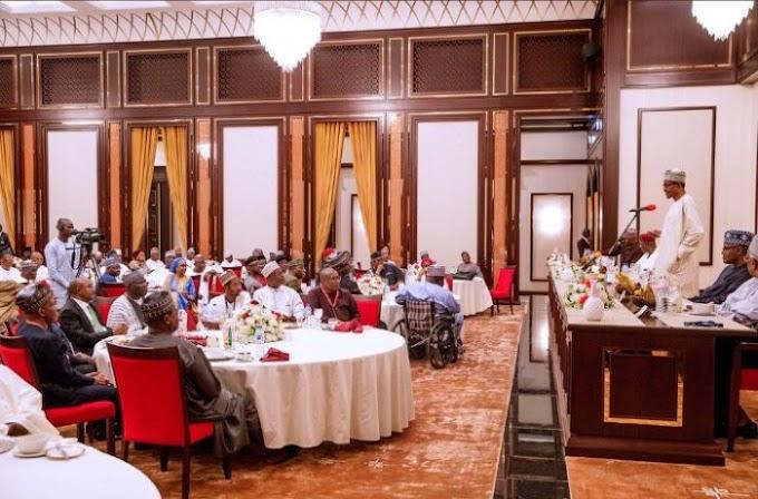 Buhari Hosts Dangote, Otedola, Others In Aso Rock (Photos)