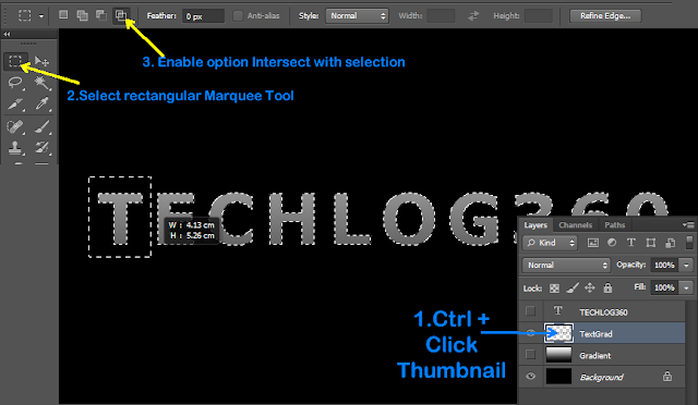 use of rectangular marquee tool in photoshop