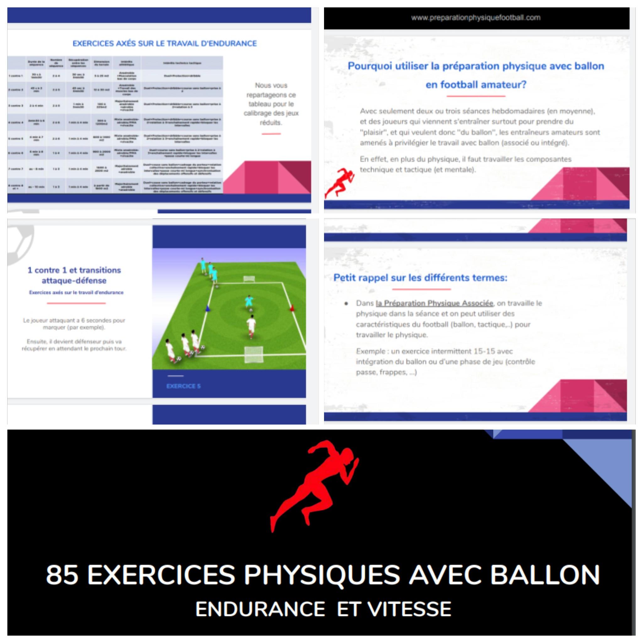 85 EXERCICES PHYSIQUES AVEC BALLON ENDURANCE ET VITESSE PDF