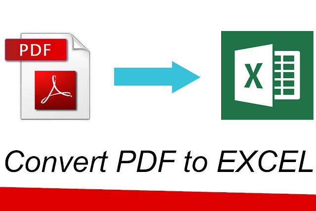 Cara Merubah PDF ke Excel
