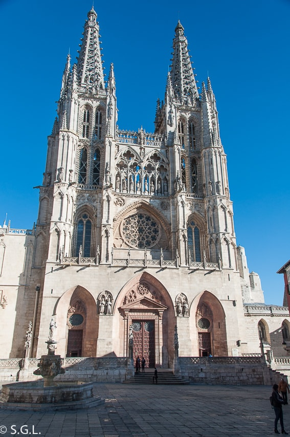 La fachada de Santa Maria de la catedral de Burgos
