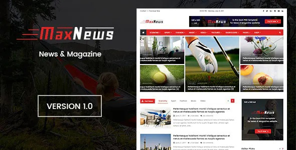 News & Magazine Joomla Template