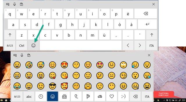 tastiera virtuale di windows