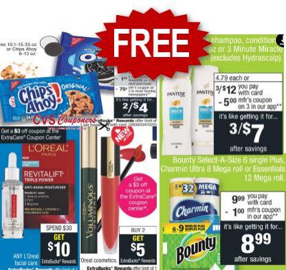 FREE Bounty Paper Towel CVS Deal 1-12-1-18