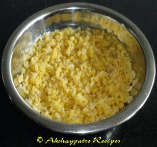 boiled moong dal to make sabzi