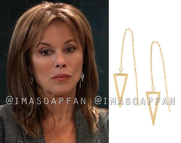 Alexis Davis, Nancy Lee Grahn, Open Triangle Drop Threader Earrings, General Hospital, GH