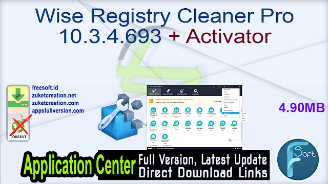 Wise Registry Cleaner Pro 10.3.4.693 + Activator