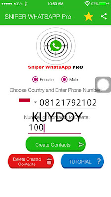 Whatsapp snipper gratis