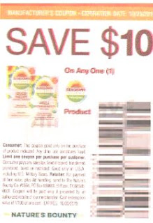 save $10 off Sundown Organic Vitamins coupon exp 10-20