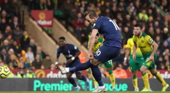 EPL: Harry Kane hits a second-half equaliser to draw with Norwich