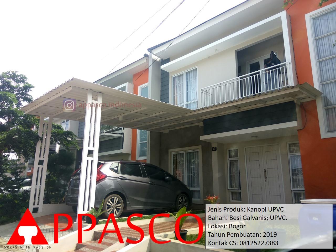 Kanopi UPVC Besi Galvanis Bogor
