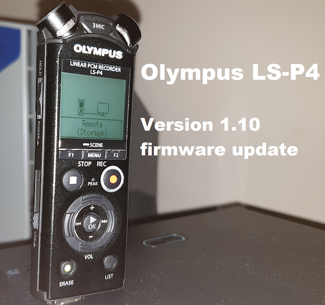 Olympus LS-P4 Version 1.10 firmware update