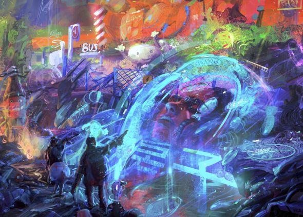 Fedor Barkhatov artstation arte ilustrações fantasia ficção cenários surreais