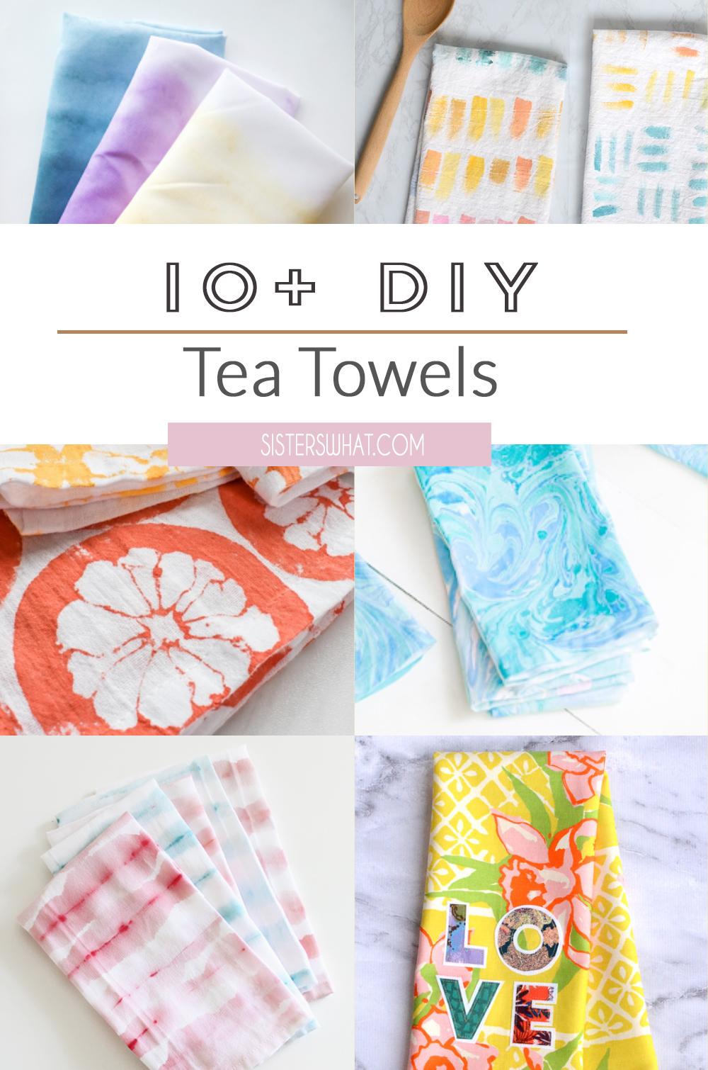 custom tea towel flour sacks tutorials