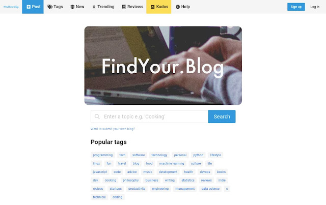Home page of FindYour.Blog
