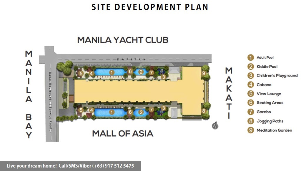 Site Development Plan | SMDC Coast Residences - 1 Bedroom Unit With Den | Condominium for Sale Roxas Boulevard Pasay
