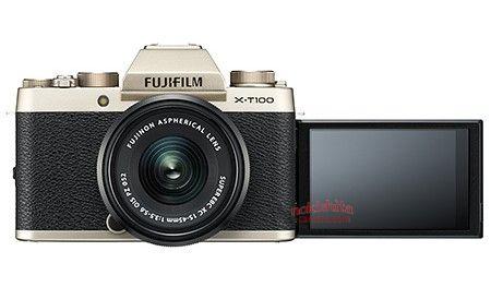 Fujifilm X-T100, экран поворачивается для съемки селфи