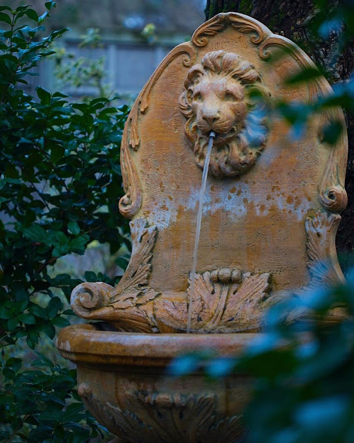 old lion fountain