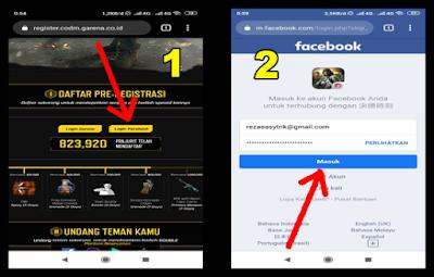 cara daftar call of duty mobile dengan facebook
