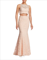 Prom Dress the Night XSCAPE Two-Piece Lace Dress