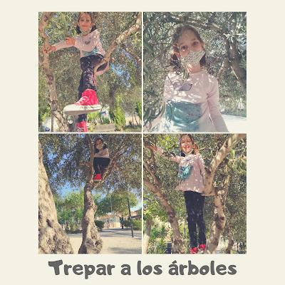 Trepar a los árboles y juego libre