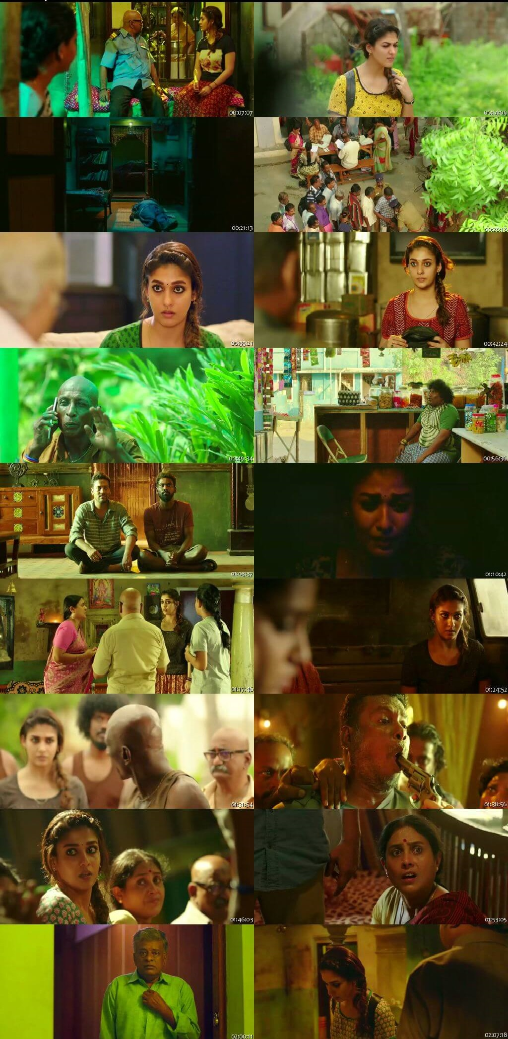 Screen Shot Of Tollywood Movie Kolamavu Kokila 2018 Full Movie In Hindi Dubbed Free download 720P HD