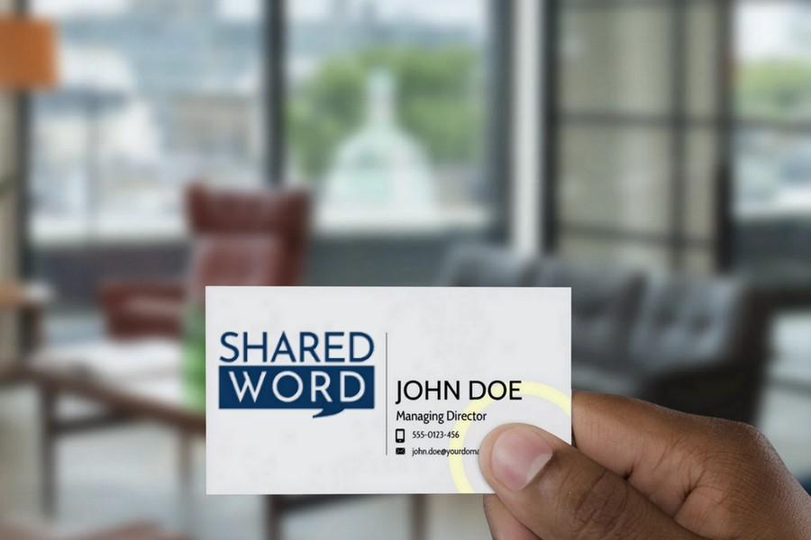 SharedWord Mock Card