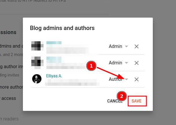 author to admin