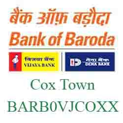 Vijaya Baroda Bank Cox Town Branch New IFSC, MICR