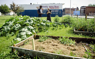 Surveying a garden in Detroit - from U of Michigan SNRE on Flickr