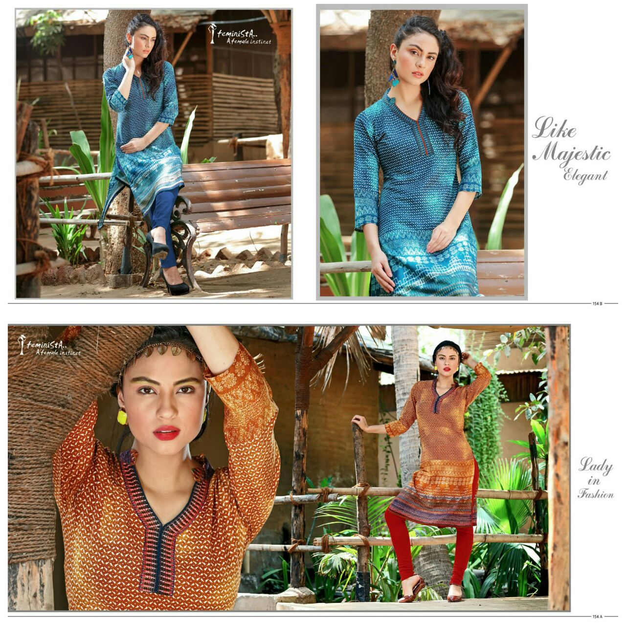 SENSES VOL – 8-Stylish Rayon Viscos Printed Kurti Online