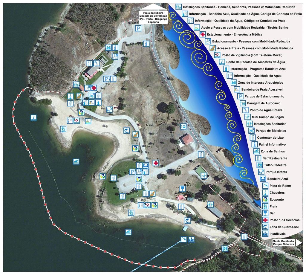 Infra-Estruturas da Praia da Fraga da Pegada na Albufeira do Azibo