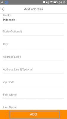 cara mengisi alamat lengkap di Aplikasi Vova Android