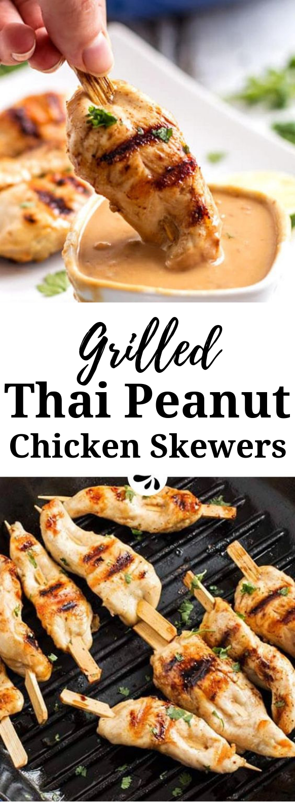 Thai Peanut Chicken Skewers #Dinner #Chicken