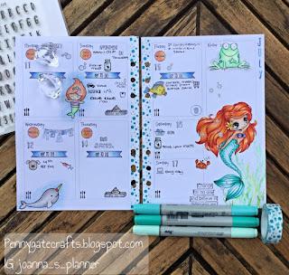 Planner-stampig-mermaid-ariel
