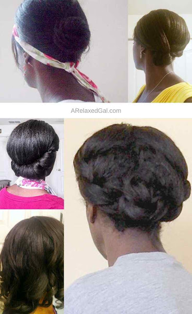 No heat relaxed hair style tutorials | A Relaxed Gal