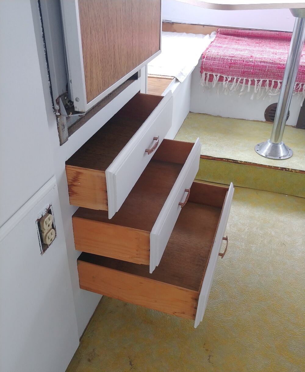 Vintage Motorhome Closets, Drawers, and Trim