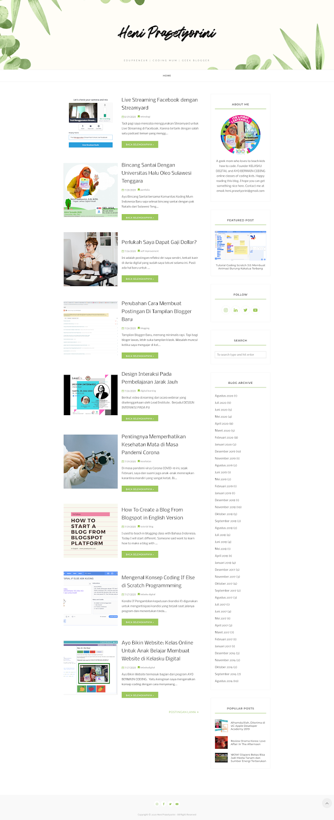 Mudahnya Mengganti Template Blogspot