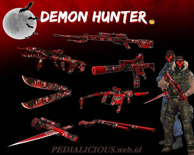 Harga & Statistik Seri Demon Hunter Senjata Point Blank