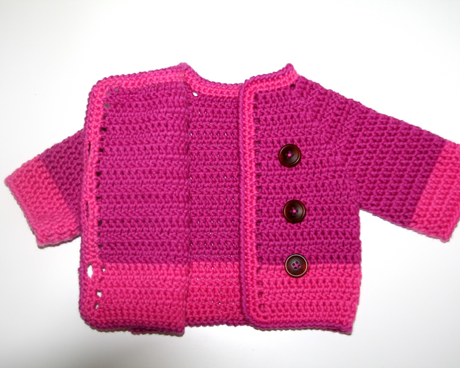 Crochet Baby Cardigan Annabel Helena
