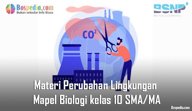 Materi Perubahan Lingkungan Mapel Biologi kelas 10 SMA/MA