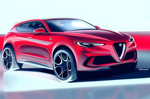 Alfa Stelvio Rendering Front